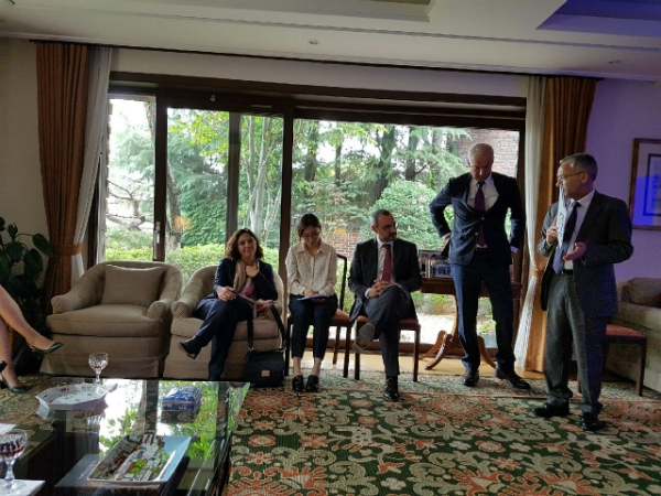 Portugal envoy Manuel Antonio Goncalves de Jesus(right) who explains the delegation's visit purpose.