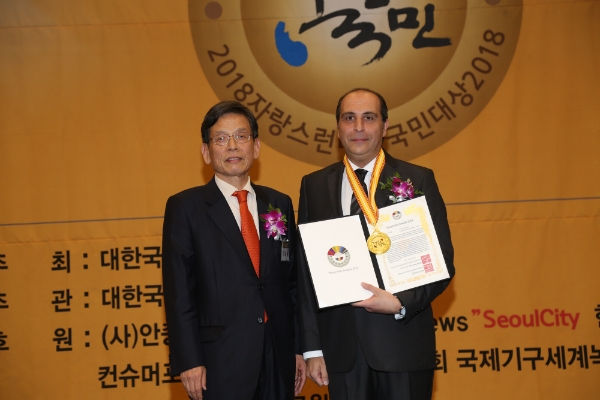 At the end of last Sep., this year, Lebanon Amb. Antoine Azzam received the 2018 Proud Amb. Award from the Korea Ambassador Culture Friendship Association, an affiliate organization of the NDNnews(www.ndnnews.co.kr) & the Seoulcity magazine in recognition of his excellenct diplomatic activities, dedication & efforts which supplemented the absence of Lebanon top envoy in Korea during last 4 years successfully well.