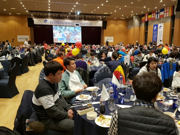 The 38th YongPyong International Ski Festival's banquet.