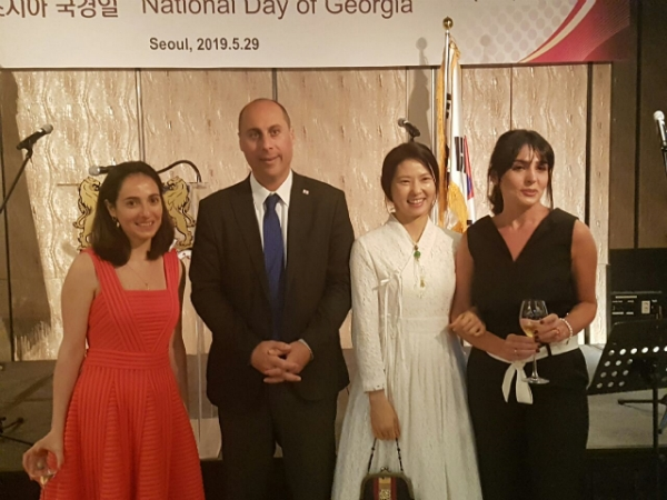 Georgia Amb. Otar couple mingling with guests during the fete.
